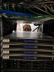 Front view of Nutanix new cluster