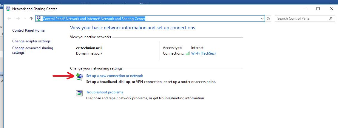 Windows 10 WiFi wireless - new connection or network