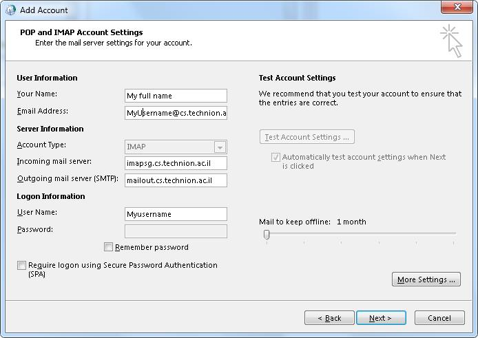 Outlook_2013_POP_and_IMAP_Account_Settings page